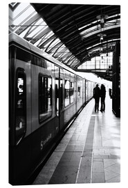 Lienzo  S-Bahn Berlin black and white photo - Falko Follert