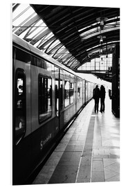 Cuadro de PVC  S-Bahn Berlin black and white photo - Falko Follert