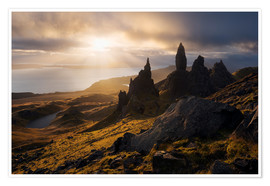Póster Scotland - Isle of Skye - Old Man of Storr