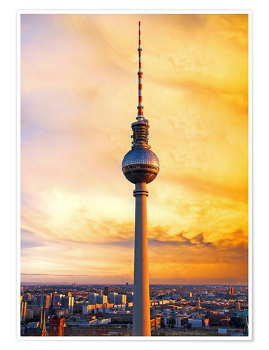 Póster Berlin television tower