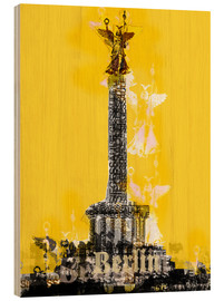 Cuadro de madera  Berlin Victory Column (on Yellow) - JASMIN!