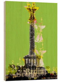 Cuadro de madera  Berlin Victory Column (on Green) - JASMIN!