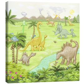Lienzo  dinosaur landscape - Fluffy Feelings
