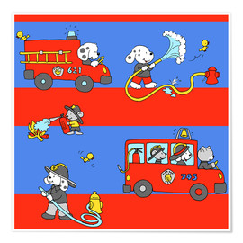 Póster animal fire brigade