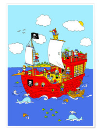 Póster pirate ship scene