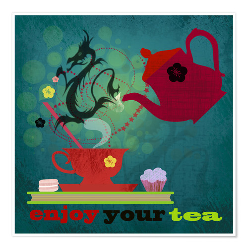 Póster Enjoy your tea