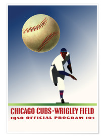 Póster chicago cubs 1950