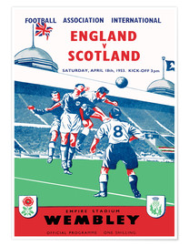 Póster england vs scotland 1953