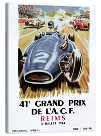 Lienzo  Grand prix de Reims - Sporting Frames