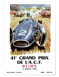 Póster  Grand prix de Reims - Sporting Frames