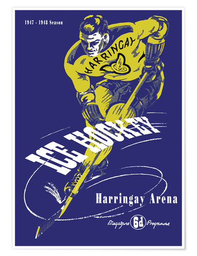 Póster harringay ice hockey