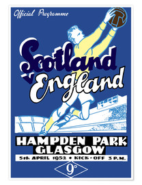 Póster scotland vs england 1952