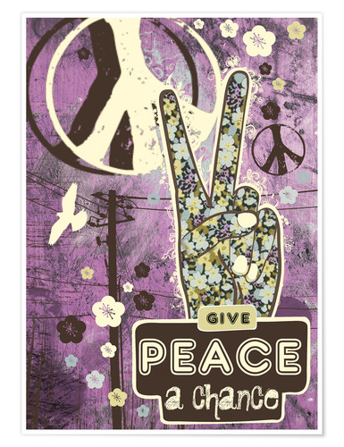 Póster Give Peace A Chance