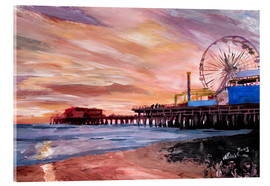 Metacrilato  Santa Monica Pier at Sunset - M. Bleichner