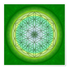 Póster  Flower of Life 3 - Christine Bässler