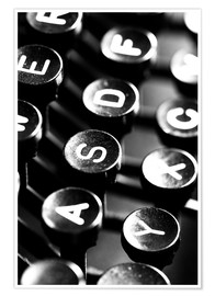 Póster Typewriter keys
