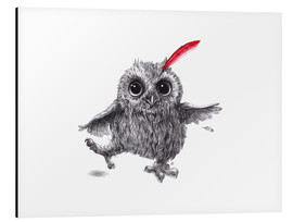 Cuadro de aluminio  Chief Red - Happy Owl - Stefan Kahlhammer
