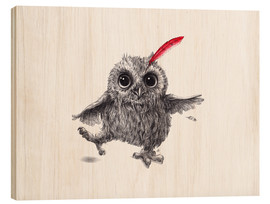 Cuadro de madera  Chief Red - Happy Owl - Stefan Kahlhammer