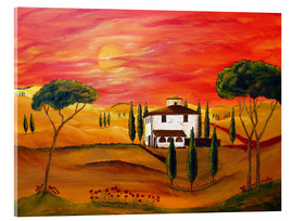 Cuadro de metacrilato  Warmth of Tuscany - Christine Huwer