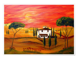 Póster  Warmth of Tuscany - Christine Huwer