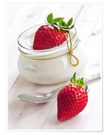 Póster  Fresas con yogurt - Edith Albuschat