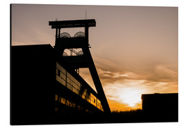 Cuadro de aluminio  Colliery in Sunset - Daniel Heine