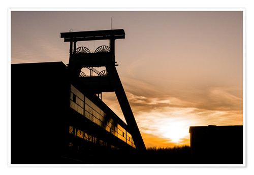 Póster Colliery in Sunset