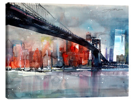 Lienzo  New York, Brooklyn Bridge IV - Johann Pickl
