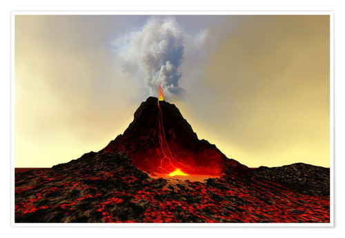 Póster An active volcan