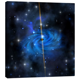 Lienzo  A dense star cluster forms this galaxy out in space. - Corey Ford