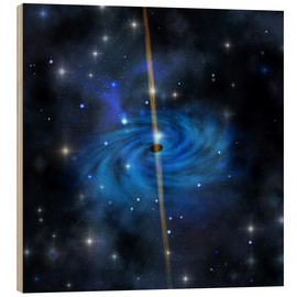 Cuadro de madera  A dense star cluster forms this galaxy out in space. - Corey Ford