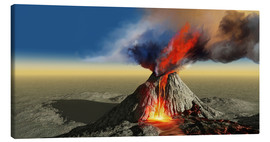 Lienzo  An active volcano erupts - Corey Ford