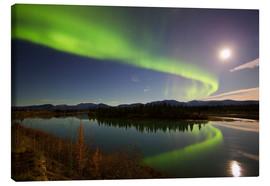Lienzo  Aurora Borealis over the Yukon River - Joseph Bradley