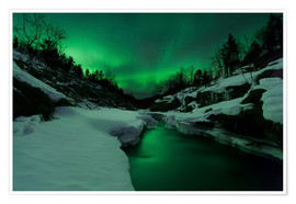 Póster Aurora Borealis over Tennevik River