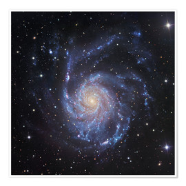 Póster M101, The Pinwheel Galaxy in Ursa Major