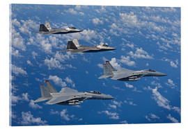 Cuadro de metacrilato  Two F-15 Eagles and F-22 - HIGH-G Productions