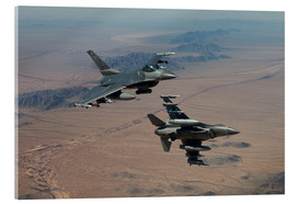 Cuadro de metacrilato  Two F16 on a training mission - HIGH-G Productions