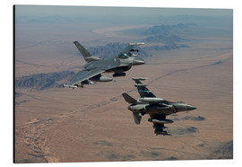 Cuadro de aluminio  Two F16 on a training mission - HIGH-G Productions