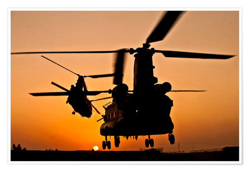 Póster Two Royal Air Force CH-47 Chinooks