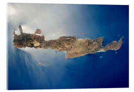 Metacrilato  View from space of the island of Crete - Stocktrek Images