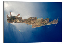 Cuadro de aluminio  View from space of the island of Crete - Stocktrek Images