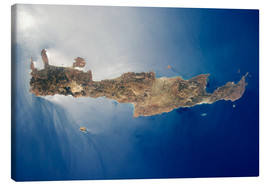 Lienzo  View from space of the island of Crete - Stocktrek Images