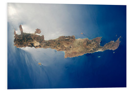 Cuadro de PVC  View from space of the island of Crete