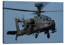 Lienzo  A U.S. Army AH-64 Apache helicopter. - Stocktrek Images