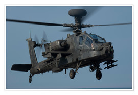 Póster A U.S. Army AH-64 Apache helicopter.