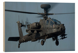Cuadro de madera  A U.S. Army AH-64 Apache helicopter. - Stocktrek Images