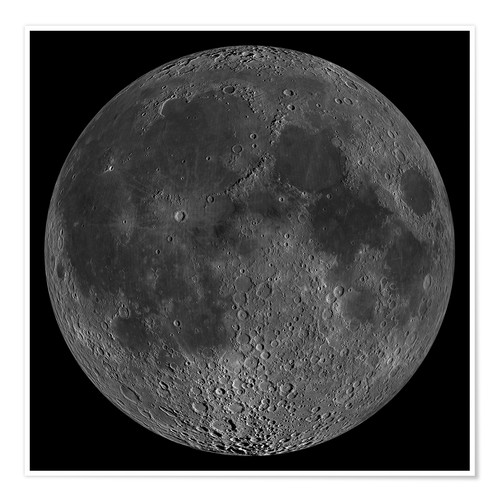 Póster Mosaic of the lunar nearside