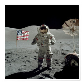 Póster  Astronaut on the moon - Stocktrek Images