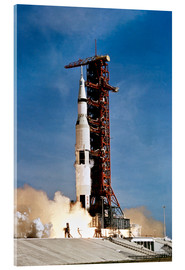 Cuadro de metacrilato  Apollo 11 space vehicle taking off from Kennedy Space Center - Stocktrek Images