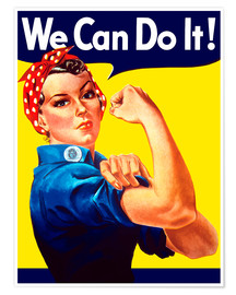 Póster Rosie the Riveter, We can do it!